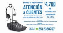 empleos de atencion a clientes 8 horarios flexibles en Radio movil SA. de CV.