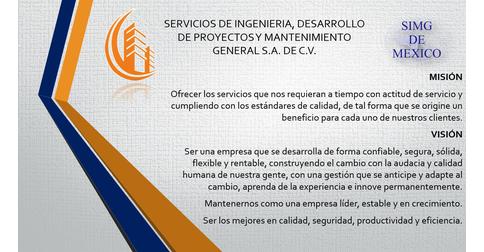 SERVICOS DE INGENIERIA, DESARROLLO DE PROYECTOS Y MANTENIMIENTO GENERAL S.A DE C.V
