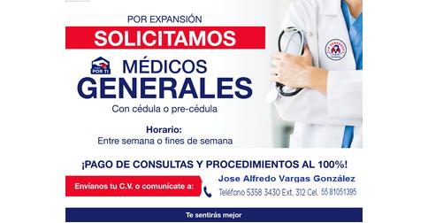 empleos de medico vespertino excelente consulta diaria en FARMACIAS LA GENEROSA