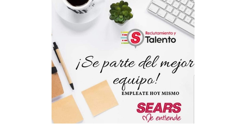 empleos de vendedor departamental en SEARS UNIVERSIDAD