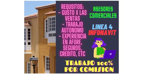 empleos de asesores comerciales en Linea 4