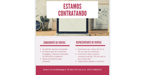 empleos de contratacion inmediata pagos semanales de 4milbonos en SGC
